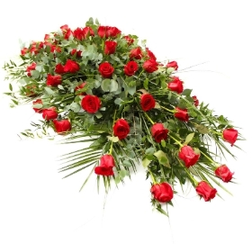 Coffin Spray Red Roses