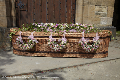 Pastal Pink Large Casket Spray