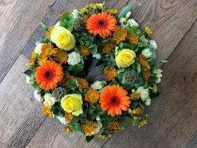 Lemon and Orange Wreath