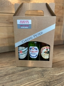 Six bottle lager gift box